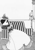 R107 A Beardsley Lady Reading