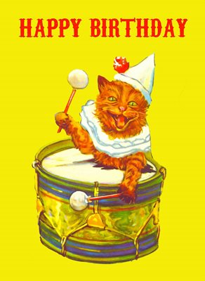AK380 Happy Birthday Cat